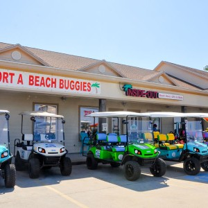 Port A Beach Buggies - colorful golf carts in Port Aransas