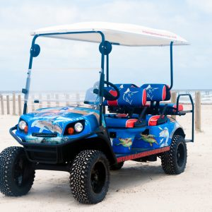 Texas Sailfish cart at the beach.